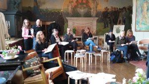 Kroki och modellteckning i stora ateljén på Carl Larsson-gården. 2017 09 30