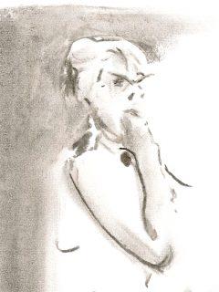 Bild på modell med glasögon.